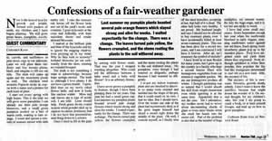 Article: Confessions of a fair-weather gardener